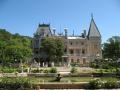 Общий вид на дворец в Верхней Массандре в Крыму