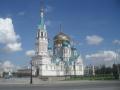 Успенский собор в Омске. Пятиглавый храм Омско-Тарской епархии